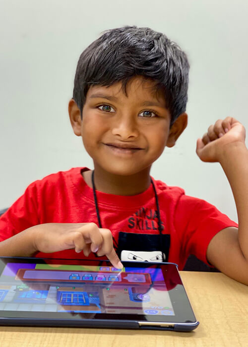 Kid with an ipad